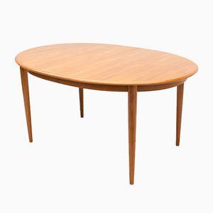 Model 4 Oval Teak Extending Dining Table by Hans Skovmand for Skovmand & Andersen, 1963