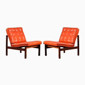 Easy Chairs by Ole Gjerløv-Knudsen and Torben Lind for France and Søn, 1974, Set of 2