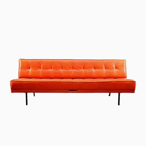 Orange Constance Three-Seater and Daybed by Johannes Spalt for Wittmann, 1960s
