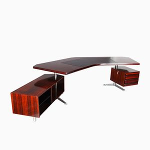 Rosewood Executive Desk by Osvaldo Borsani for Tecno Milano, 1950