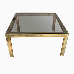 Italian Coffee Table with Smoked Glass Top, 1970s