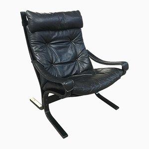 Siesta Leather Armchair by Ingmar Relling for Westnofa, 1960s
