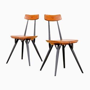 Finnische Pirkka Stühle von Ilmari Tapiovaara, 1960er, 2er Set