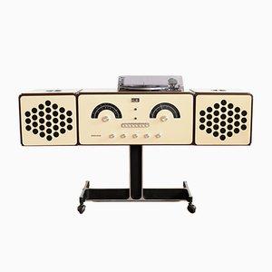 Weißer Mid-Century RR 126 Plattenspieler und Radio von Pier Giacomo & Achille Castiglioni für Brionvega, 1960er