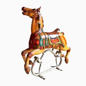 Französisches Vintage Karussell-Pferd