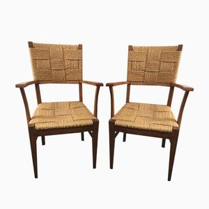 Vintage Chairs by Audoux-Minet, Set of 2
