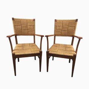 Vintage Stühle von Audoux-Minet, 2er Set