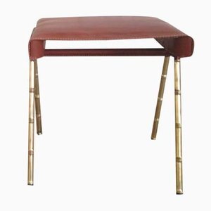 Vintage Stool by Jacques Adnet