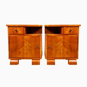 Art Deco Scandinavian Bedside Cabinets, 1930s
