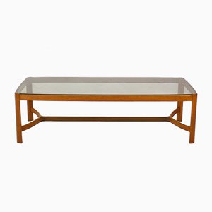 Cherry and Smoked Glass Coffee Table
