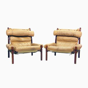 Inca Lounge Safari Chairs by Arne Norell, 1970s, Set of 2