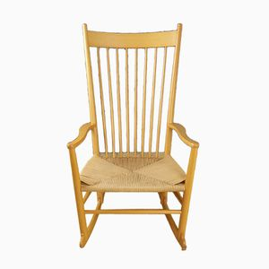 Vintage J16 Rocking Chair by Hans Wegner for Kvist Mobler
