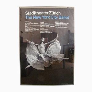 Affiche de Ballet New York City par Josef Muller-Brockmann, 1962
