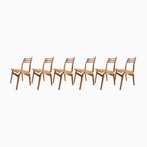 Estnische Esszimmerstühle aus Schichtholz, 1960er, 6er Set