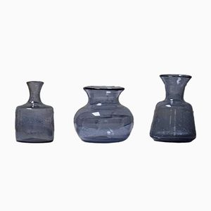 Handmade Vases by Erik Höglund for Kosta Boda, 1960s, Set of 3