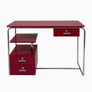 Vintage German Red Writing Desk