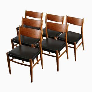 Niederländische Mid-Century Esszimmerstühle von Pastoe, 1960er, 6er Set