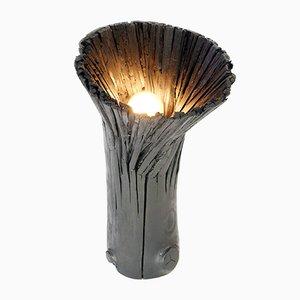 Lampada da tavolo in legno pressato nero di Johannes Hemann