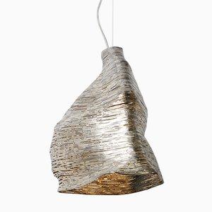 Lampada a sospensione Wrap in legno di tiglio di Johannes Hemann