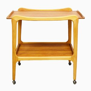 Mid-Century Teak and Beech Tea Trolley