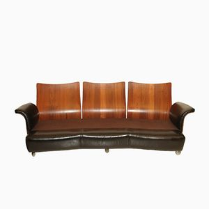 Rosewood & Leather Sofa from G-Plan, 1970s