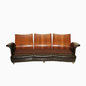 Sofa aus Palisander & Leder von G-Plan, 1970er
