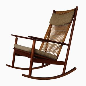 Danish Teak Rocking Chair by Hans Olsen for Brdr Juul-Kristensen