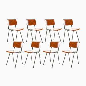 Dutch Industrial School Chairs from Marko, 1960s, Set of 8