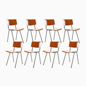 Niederländische Industrielle Klassenzimmer Stühle von Marko, 1960er, 8er Set