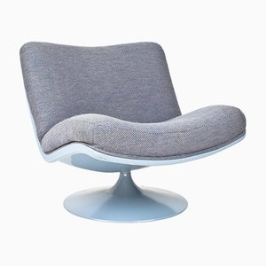 F978 Swivel Lounge Chair in Lavender by Geoffrey Harcourt for Artifort, 1968