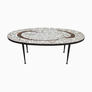 Italian Mid-Century Mosaic Coffee Table, 1950s
