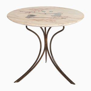 Mid-Century Italian Round Side Table, 1950s