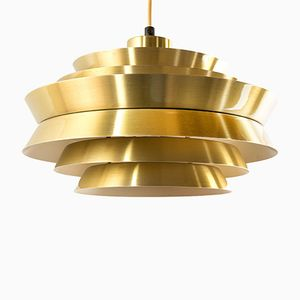 Vintage Brass Trava Pendant by Carl Thore for Granhaga
