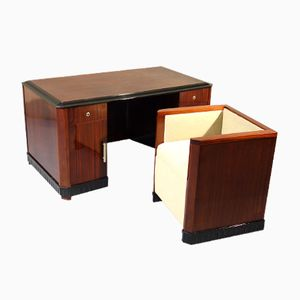 Art Deco Desk with Pull-Out Armchair