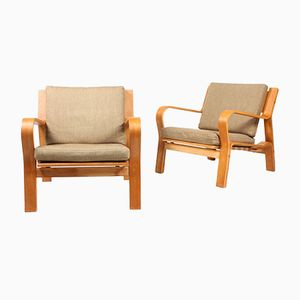 Danish Lounge Chairs by Hans Wegner for Getama, 1960s, Set of 2