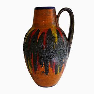 Vase Fat Lava par Heinz Siery pour Scheurich, Allemagne, 1960s