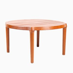Solid Teak Coffee Table, 1960s