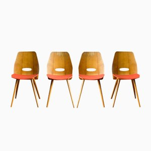 Vintage Dining Chairs from Tatra, 1960s, Set of 4
