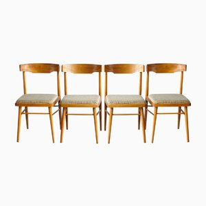 Vintage Czech Dining Chairs from TON, 1960s, Set of 4