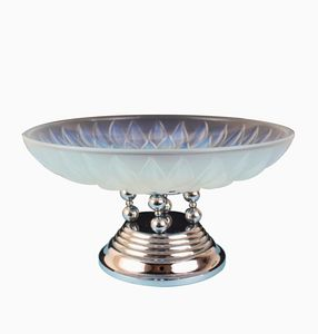 Art Deco Opalescent Glass Table Centerpiece from Etling, 1930s