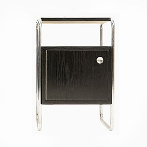 Bauhaus Tubular Steel Night Stand by Rudolf Vichr, 1930s