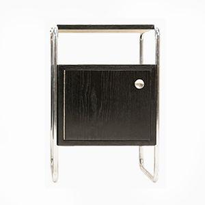 Table de Chevet Bauhaus en Acier Tubulaire par Rudolf Vichr, 1930s