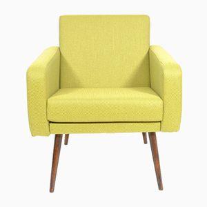 Tschechischer Lindgrüner Vintage Sessel