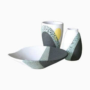 Vintage Keramiken von Ettore Sottsass für Bitossi, 1950er, 3er Set