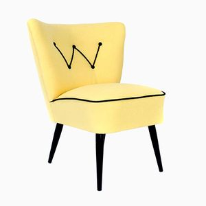 Yellow Austrian Lounge Chair, 1950s