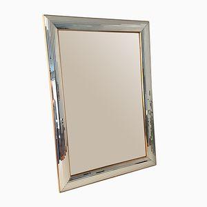 Großer Spiegel aus Glas & Messing von Deknudt, 1980er
