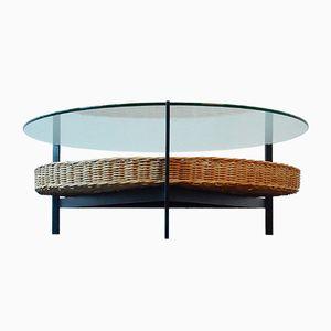 Table Basse Vintage avec Panier, Pays-Bas