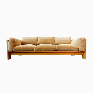 Mid-Century Sofa in Oak with Downfilled Corduroy Cushions