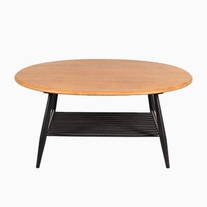Tables Basse avec Base en Bois Noir par Lucian Ercolani pour Ercol, 1950s