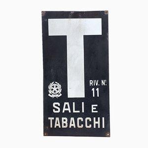 Italienisches Vintage Tabakwaren Schild